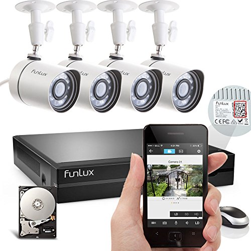 Funlux® 4 Outdoor 1280 X 720P HD 4CH NVR CCTV System + 500GB Hard Drive Review