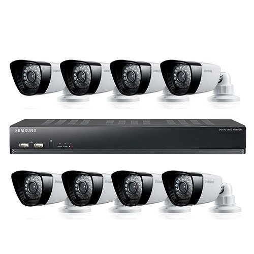 Samsung SDS-P5080N 16 Channel DVR CCTV System w 1 TB HDD + 8 Box Cameras