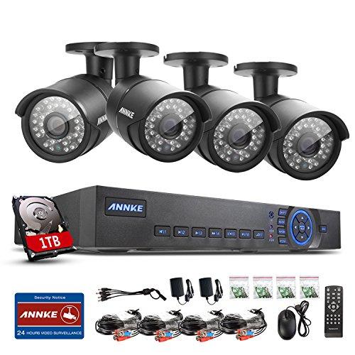 Annke AHD 720P 8CH Surveillance HVR/DVR/NVR 3 in 1 CCTV System
